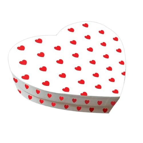 Упаковка «Сердце белое», 250*200*60