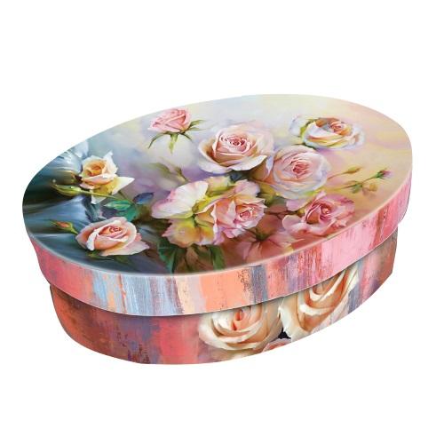Тубус «Живописная роза» овал, 170*127*50