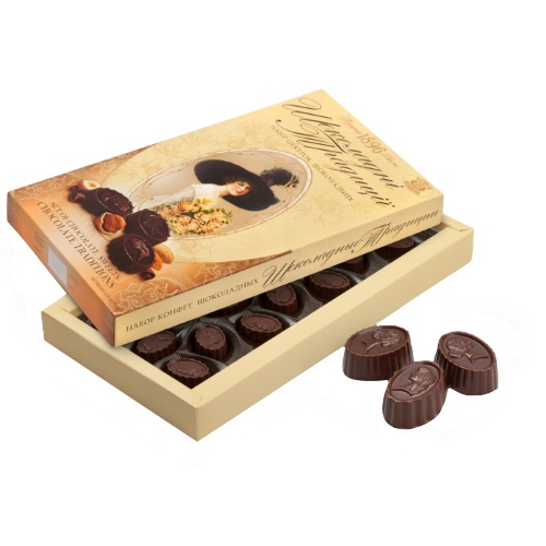 Цукерки в коробці ХБФ «Шоколадні традиціі», 180г