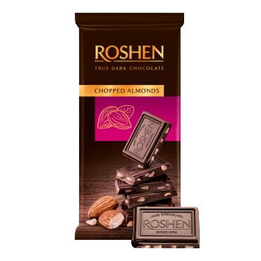Шоколад «Roshen» Chopped almonds з підсоленныим мигдалем, 85г
