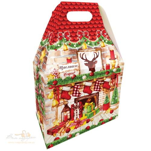 Новогодняя коробка «Рождественский камин», 1000г