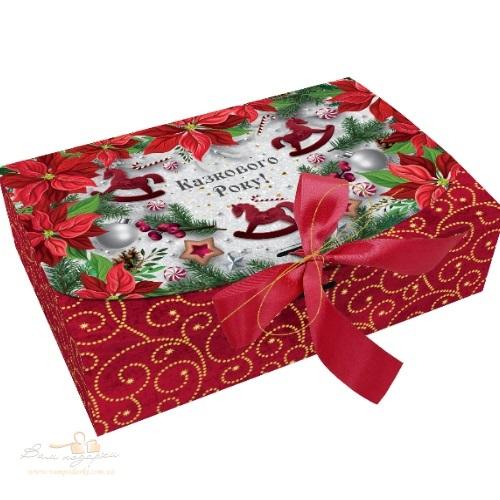 Новогодняя коробка «Зимний цветок», 1000г