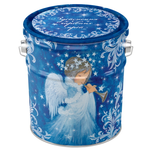 Новогодняя жестяная упаковка «Ангел», 1000г