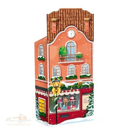Новогодняя упаковка «Домик» красный, 400г