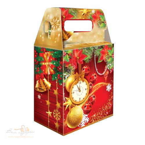 Новогодняя упаковка «Сумка ретро» красная, 2000г