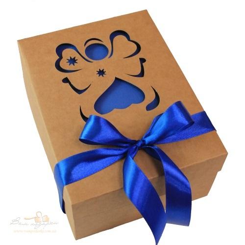 Подарочная дизайнерская упаковка из крафта «Ангел», 210*160*95