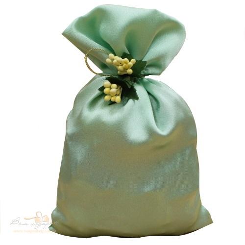 Подарочный мешочек из креп-сатина нежно-салатовый, КС-2