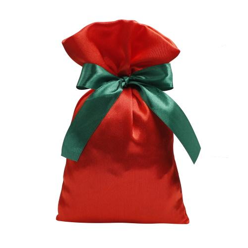 Подарочный мешочек из креп-сатина красный, КС-2
