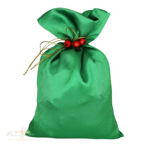 Подарунковий мішечок з креп-сатину зелений, КС-2