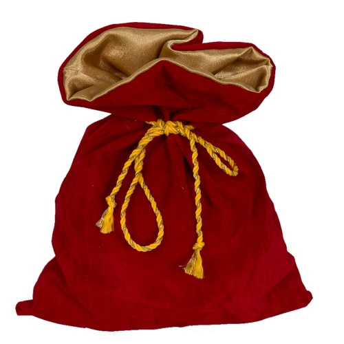 Подарочный мешочек из замши красный З-6