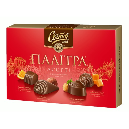 Конфеты в коробке Свиточ «Палитра» молочный шоколад, 200г