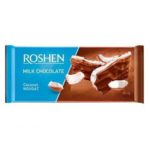 Шоколад «Roshen» молочний з кокосовою нугою, 90г