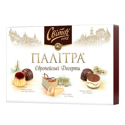 Цукерки в коробці Світоч «Європейскі Десерти», 173г