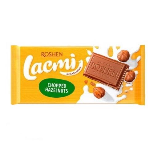 Шоколад «Roshen» Lacmi молочний з подрібненим лісовим горіхом, 90г