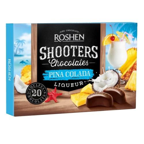 Цукерки в коробці Roshen «Shooters» pina colada, 150г
