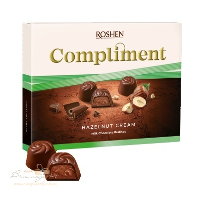 Цукерки в коробці Roshen «Compliment» Hazelnut cream,  122г